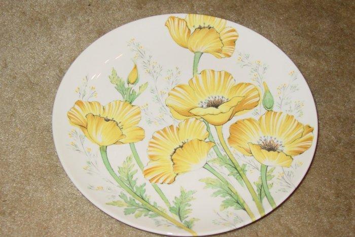Noritake Buttercup Dinner Plate Yellow Flowers Decor