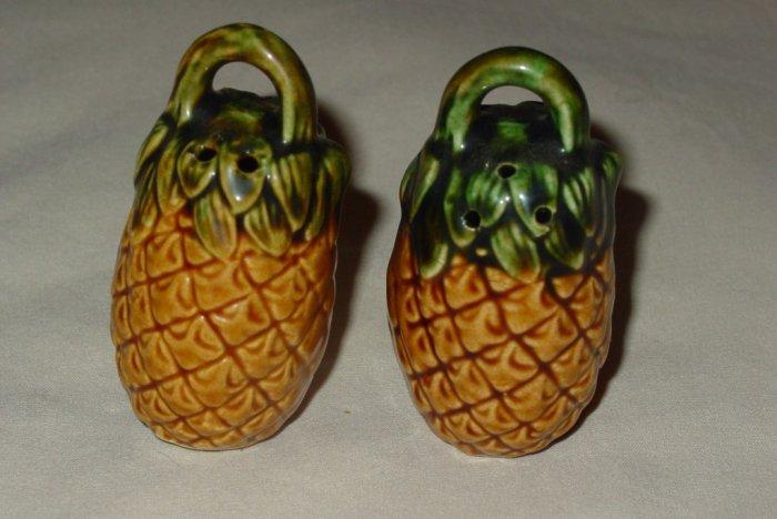 Vintage Handled Pineapple Shape Salt & Pepper Shakers