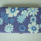Blue Flowers Hard case Purse