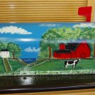 Hand Painted Mailbox Mailboxes With Barnyard Scene 24