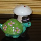 Ceramic Turtle With Mushroom For Your Home or Garden Decor Handpainted