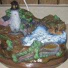 Boatyard, Lighthouse Lighted Scene Ceramic