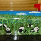 Hand Painted Handpainted Mailbox Mailboxes Panda Bears 07