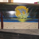 Handpainted Mailbox Hand Painted Mailboxes Dophin Sunset Scene T2 02