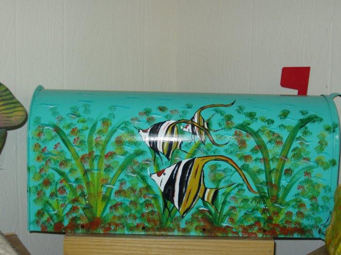 Handpainted Mailbox Angel Fish Hand painted Mailboxes Angel Fish 25