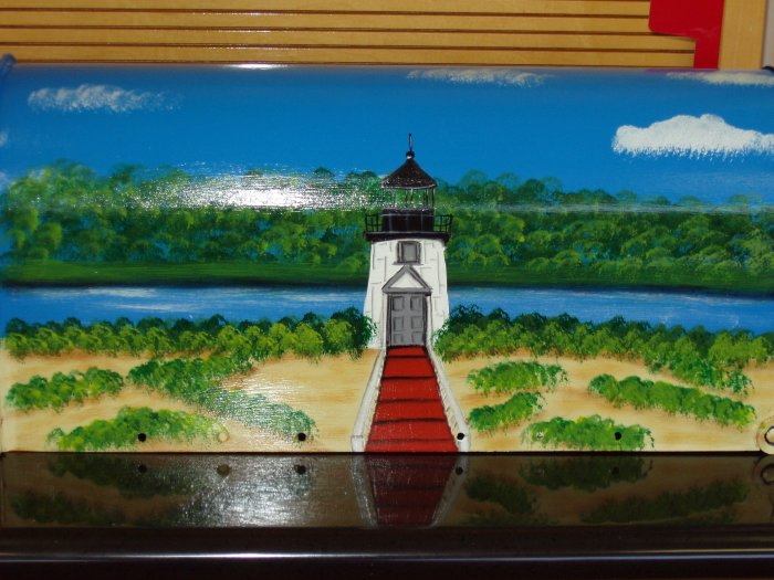 Hand Painted Lighthouse Mailbox Handpainted LIghthouse Mailboxes 26