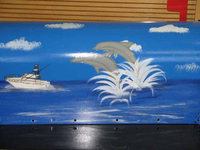 Handpainted Mailbox Dolphins Ocean Scene Hand Painted Mailboxes