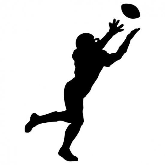 football receiver vinyl wall decal