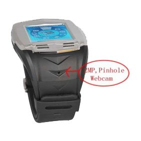 """Golden-Quad Band Cell Phone Watch, 1.5"""" Touch Screen Video/Audio/Bluetooth Cell Phone Watch"""