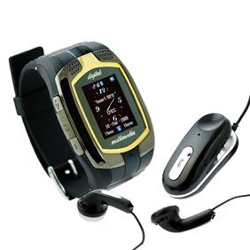 Dual SIM Card Tri-band Bluetooth Cell Phone Watch M860