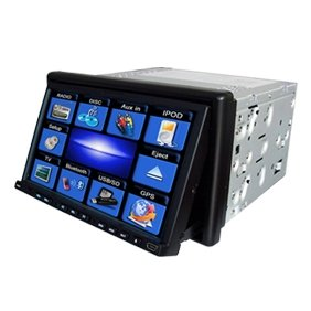 2 Din IN-DASH 7 INCH TFT WIDESCREEN Car DVD Player CDP817 without  GPS