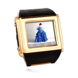 W600 Golden Tri-Band Touch Screen Cell Phone Watch