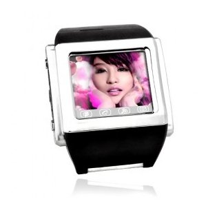 W600 Silver Tri-Band Touch Screen Cell Phone Watch