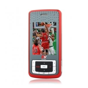 MTV3.3 JAVA Dual Mode Bluetooth Slide 3G WCDMA Cell Phone Red