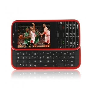5730 Dual Card Tri Band JAVA Ultra Thin Flat Touch Screen Cell Phone Black
