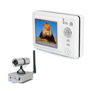 "2.5"" TFT 2.4GHZ Four Channel MP4 DVR Baby Monitor Kit with 200M High Power Wireless Camera"
