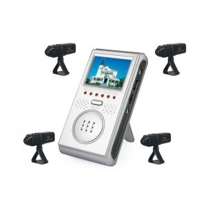 2.5-inch Wireless Four Channel AV Baby Monitor with Four Wireless Cameras