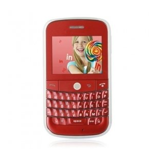B100 Dual Card Quad Band Trackball JAVA QWERTY Keypad Cell Phone Red