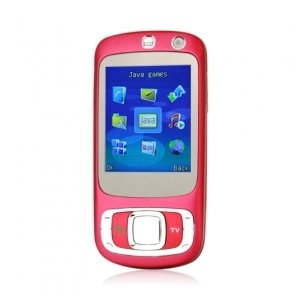 K530 Qaud Band Dual Card JAVA TV Cell Phone Red