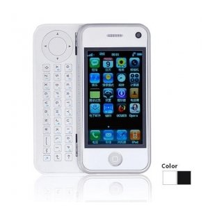 A8 WIFI JAVA QWERTY Keypad Quad Band Dual Card Dual Camera TV FM 3.2 Inch Touch Screen Cell Phone