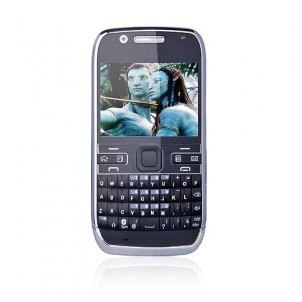 WE72 Dual Card Quad Band Dual Camera Flashlight TV JAVA WIFI Metal Cover QWERTY Keypad Cell Phone