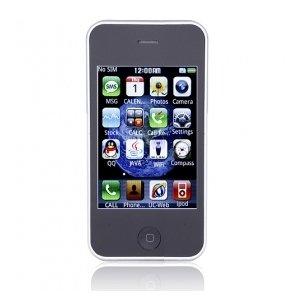 PK168 WIFI JAVA Bluetooth FM Quad Band Dual Card 3.2 Inch Touch Screen Cell Phone Black