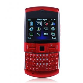 Wholesale JC96 Dual Card Quad Band TV WIFI with Optical Mouse QWERTY Keypad Cell Phone Red