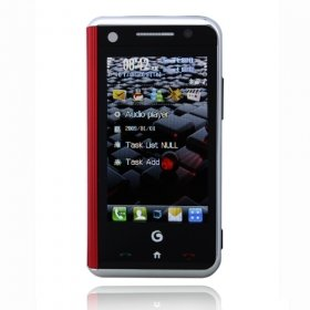 Wholesale M720 Dual Card Quad Band Dual Camera Flat Touch Srceen Cell Phone Black and Red