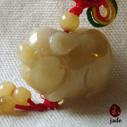Chinese Little Pig jade pendant SOLD!