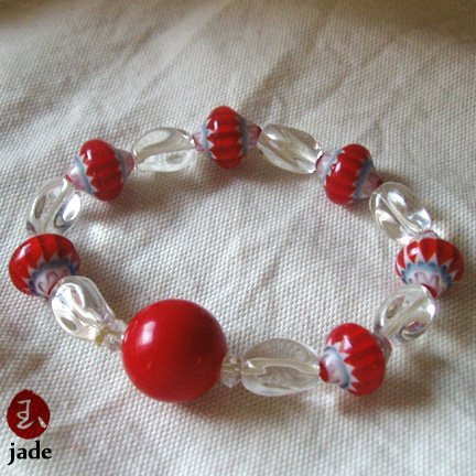Crystal & Beads stretch bracelet