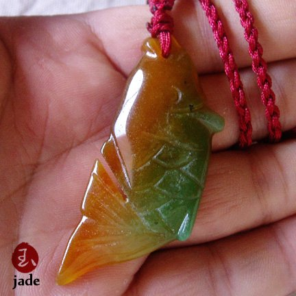 Koi fish  jade necklace pendant SOLD!
