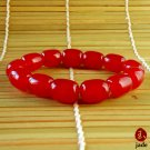 Red jade Beads stretch bracelet