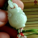 Chinese White jade Vase pendant necklace