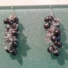 Freshwater cultured pearl and crystal drop earrings