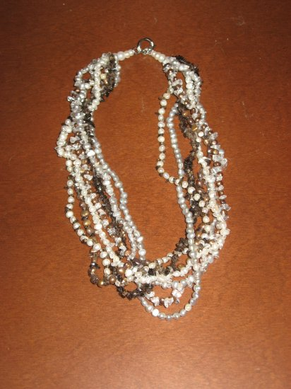 Gorgeous New Genuine Freshwater Cultured Pearl Necklace