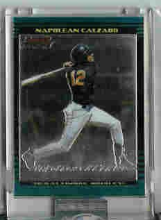 Napolean Calzado Baltimore Orioles 2002 Bowman Chrome Uncirculated Rookie Card