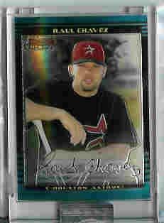 Raul Chavez Houston Astros 2002 Bowman Chrome Uncirculated Rookie Card