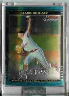 Mark Outlaw Philadelphia Phillies 2002 Bowman Chrome Uncirculated Rookie Card