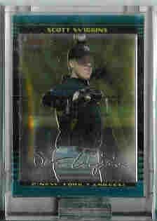 Scott Wiggins Newe York Yankees 2002 Bowman Chrome Uncirculated Rookie Card
