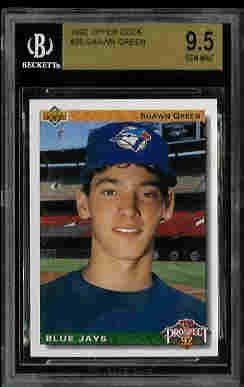 Shawn Green New York Mets 1992 Upper Deck Rookie Card BGS 9.5
