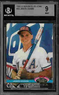 Jason Giambi New York Yankees Team USA 1992 Stadium Club Dome Rookie Card BGS 9