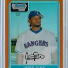 Jose Diaz Texas Rangers 2006 Bowman Chrome Orange Refractor RC SN#/25 BC72