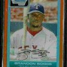 Brandon Boggs Texas Rangers 2006 Bowman Chrome Orange Refractor RC SN#/25 BC89