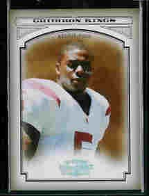Reggie Bush New Orleans Saints 2006 Donruss Threads College Gridiron Kings Silver SN#/250