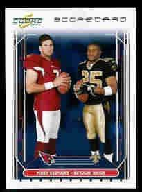 Reggie Bush New Orleans Saints Matt Leinart Arizona Cardianals USC Teamates 2006 Scorecard SN# /750