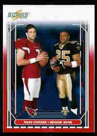 Reggie Bush New Orleans Saints Matt Leinart Arizona Cardianals USC Teamates 2006 Score Red SN# /120