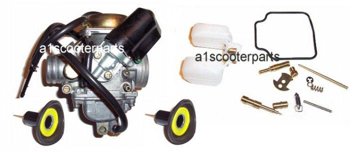GY6 carburetor w/extra parts 150cc 125cc 157qmj