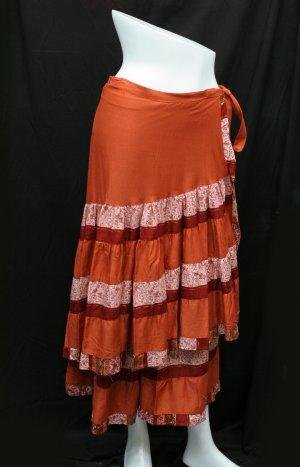 Wrap plain skirt