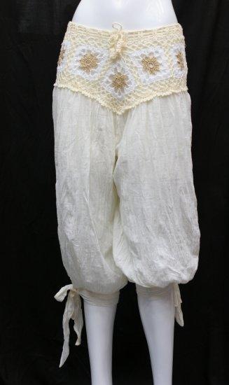 V-crochet 3/4 pants