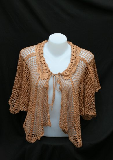 Tied at front crochet